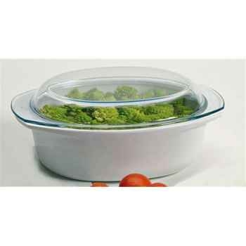 Pyrex cocotte ovale 3.5 l blanche - pyroflam 4754