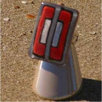 Bijouxenverre-Bague avec anneau ajustable en plaqué argent 20 microns-04BRE
