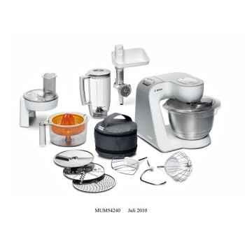 Bosch robot multifonction  900w blanc silver - kitchen machinestyline 5109