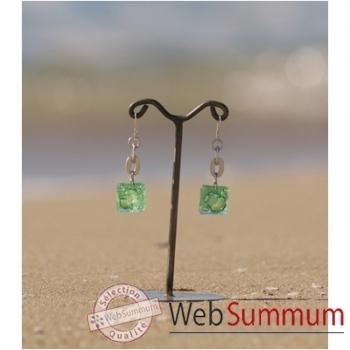 Bijouxenverre-Boucles d'oreilles avec dormeuse en argent 925-10BOC