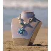 bijouxenverre collier longueur 42cm piece de verre 07cr45