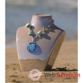 bijouxenverre collier longueur 42cm piece de verre 08cr45