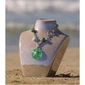 bijouxenverre collier longueur 42cm piece de verre 10cr45