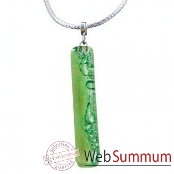 BcommeB-Pendentif rectangulaire cartouche avec chaine argent-cbo2w