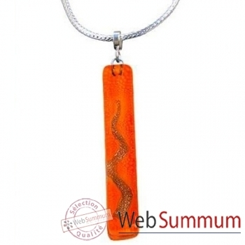 BcommeB-Pendentif rectangulaire cartouche avec chaine argent-cbo16w