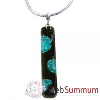 BcommeB-Pendentif rectangulaire cartouche avec chaine argent-cbo17w