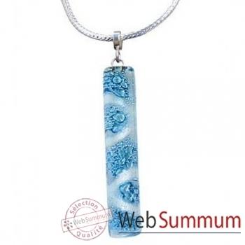 BcommeB-Pendentif rectangulaire cartouche avec chaine argent-cbo18w
