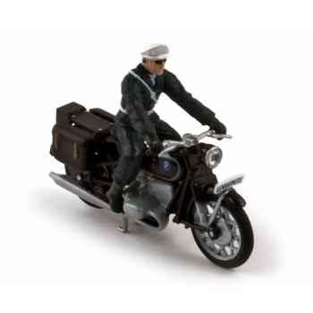 Bmw r60 + motard gendarmerie tenue noire 1956  Norev 350052