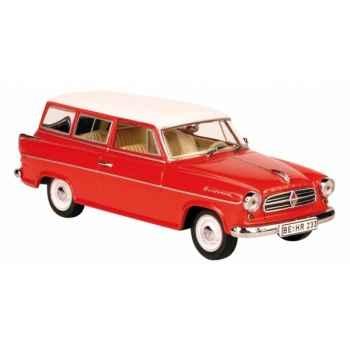 Borgward isabella combi rouge fonc Norev 820010