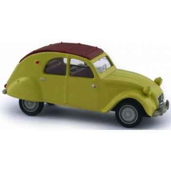 Citroën 2 cv 1961 jaune panama Norev 150624