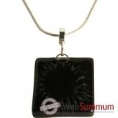 bcommeb pendentif carre avec chaine argent cca62w