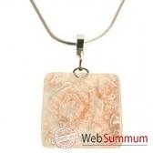 bcommeb pendentif carre avec chaine argent cca68w