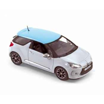 Citroën ds3 2010 white with blue boticcelli roof  Norev 155280