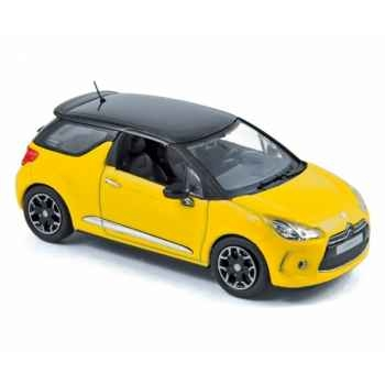 Citroën ds3 2010 yellow with black roof  Norev 155284