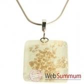 bcommeb pendentif carre avec chaine argent cca69w