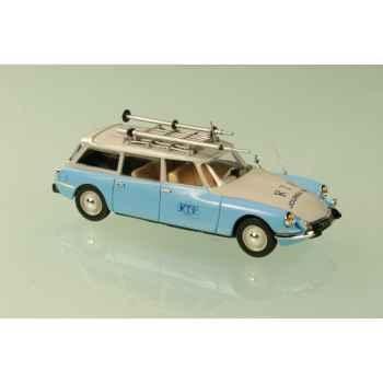 Citroën id break rtf bleu clair  1963 Norev 158066
