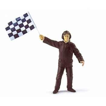 Directeur course moderne avec drapeau Norev PS1701