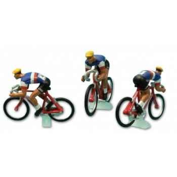 Equipe 3 cyclistes france tdf 1958  Norev EC4021