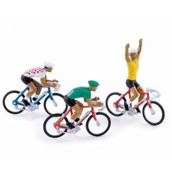 Equipe 3 cyclistes maillots gagnants tdf  1976  Norev EC4093