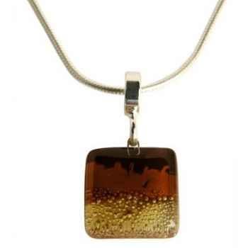 BcommeB-Pendentif carré puce avec chaine argent-ccp1w