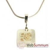 bcommeb pendentif carre puce avec chaine argent ccp9w