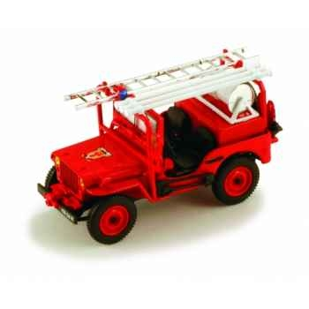 Jeep willys pompier Norev 845002