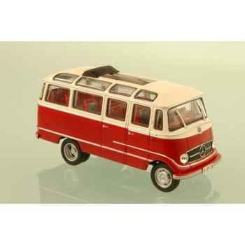 Mercedes o319d rouge et blanc 1962 Norev 351120