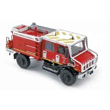 Mercedes u5000 pompiers de marseille 2005  Norev 351165