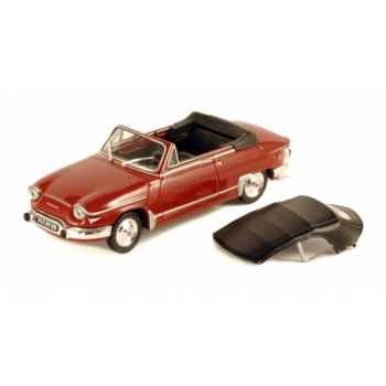 Panhard pl17 cabriolet rouge corsaire int. noir Norev 451713