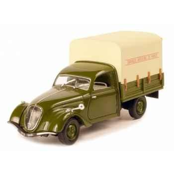 Peugeot 202 bâchée 1947 vert et crème Norev 472204