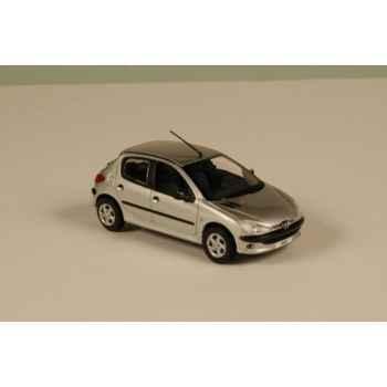 Peugeot 206 gris aluminium 1998 Norev 472641