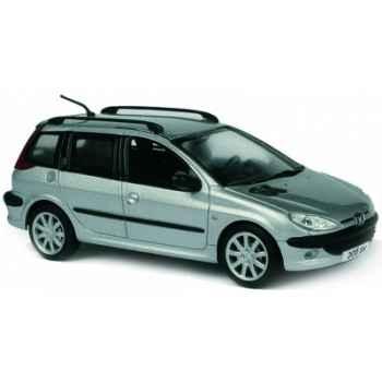 Peugeot 206 sw gris quartz métal Norev 472632