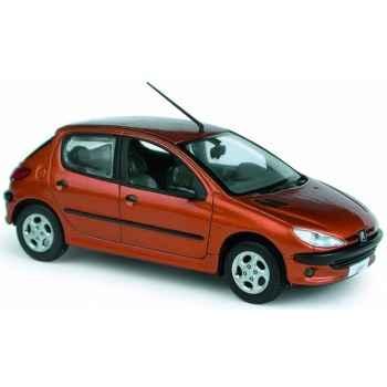 Peugeot 206 xt premium tangerine Norev 472603