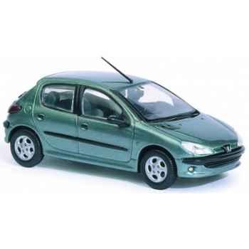 Peugeot 206 xt premium vert romarin Norev 472602
