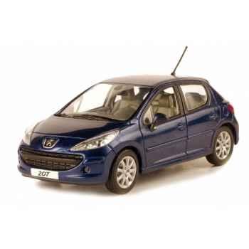 Peugeot 207 5p premium pack bleu montebello Norev 472750