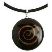 bcommeb pendentif rond avec tour de cou en neoprene diam 45cm cr4513 w