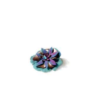 Joyaux de la couronne-Broche fleur encrés-pifleenc