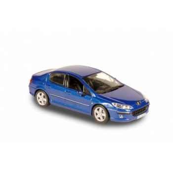 Peugeot 407 berline bleu alcyon Norev 474710