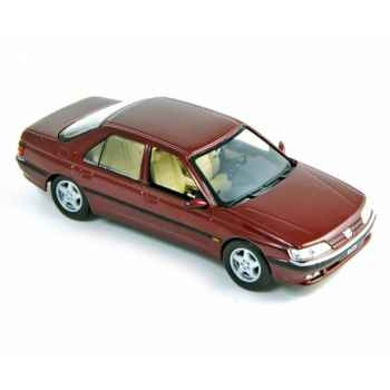 Peugeot 605 1998 dark red Norev 476501