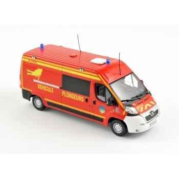 Peugeot boxer 2010  pompiers véhicule plongeurs   Norev 479056