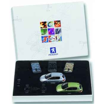 Peugeot coffret 307 gris quartz et vert ouranos Norev 473781