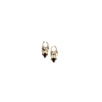 Joyaux de la couronne-Boucle d'oreille créoles twist fusains-botwcfus