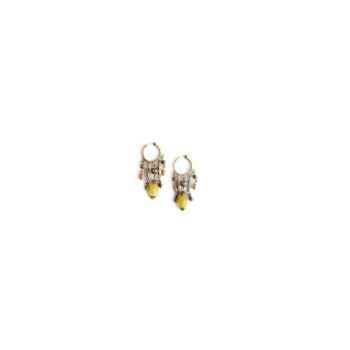 Joyaux de la couronne-Boucle d'oreille créoles twist fresques-botwcfre