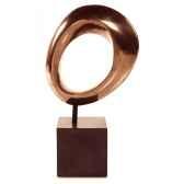 sculpture hoop table sculpture box pedestaaluminium et fer bs1711alu iro