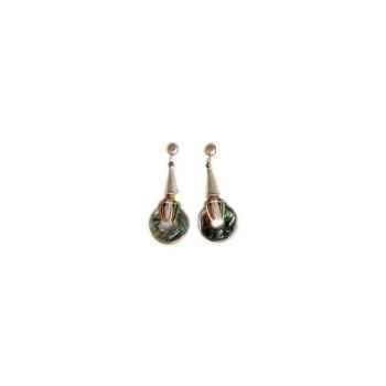 Joyaux de la couronne-Boucle d'oreille talisman argent fresques-botalfre