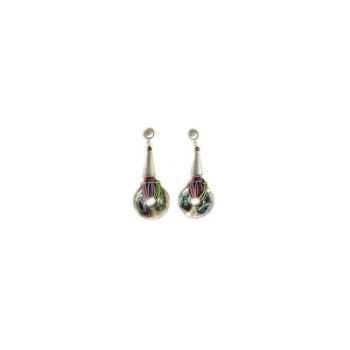 Joyaux de la couronne-Boucle d'oreille talisman argent encrés-botalenc