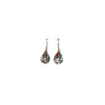 Joyaux de la couronne-Boucle d'oreille talisman argent capiteux-botalcap