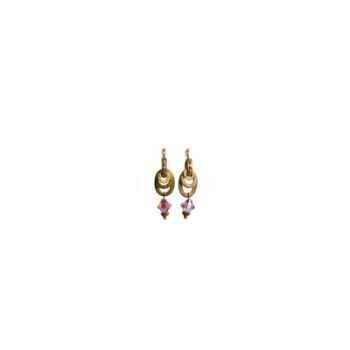 Joyaux de la couronne-Boucles d'oreille baroque améthyste-bobarame