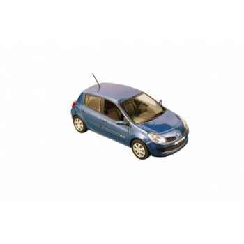 Renault clio 3 berline bleue Norev 517530
