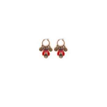 Joyaux de la couronne-Boucles d'oreille créoles feutre capiteux-bocfmcap